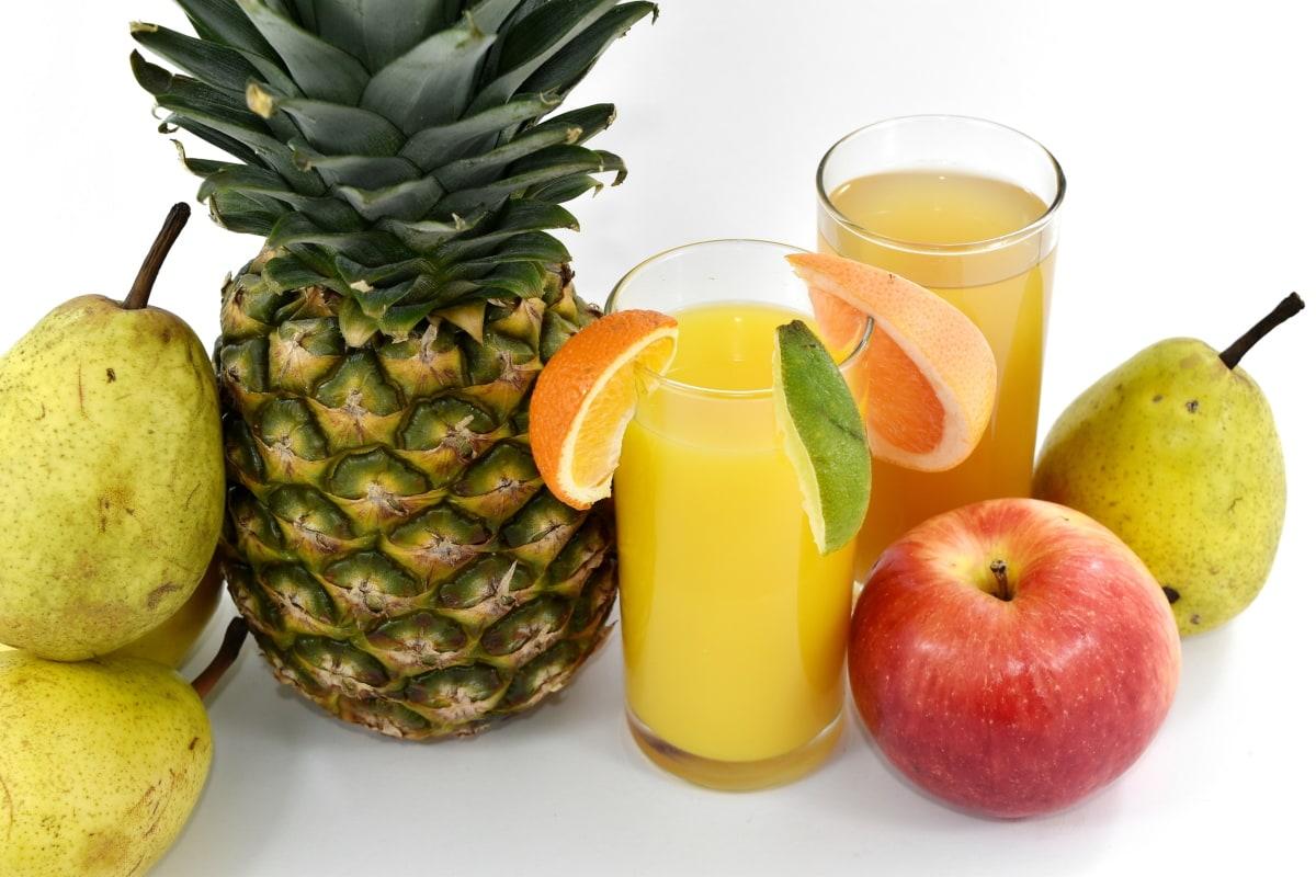 ябълка, аскорбинова киселина, напитки, плодов сок, грейпфрут, круши, ананас, сироп, витамин Ц, пресни