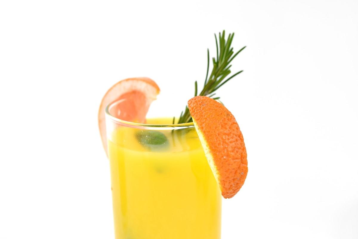 napoje, świeży, koktajl owoców, Lemoniada, mięta, pomarańczowy, witamina C, sok, tropikalny, zimno