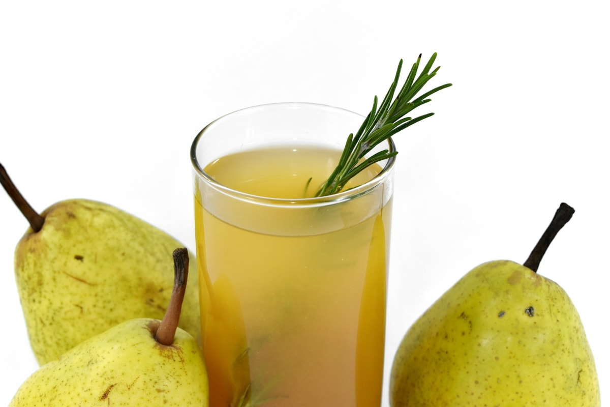 fresh, fruit juice, liquid, mint, pears, rosemary, vitamin C, beverage, food, fruit