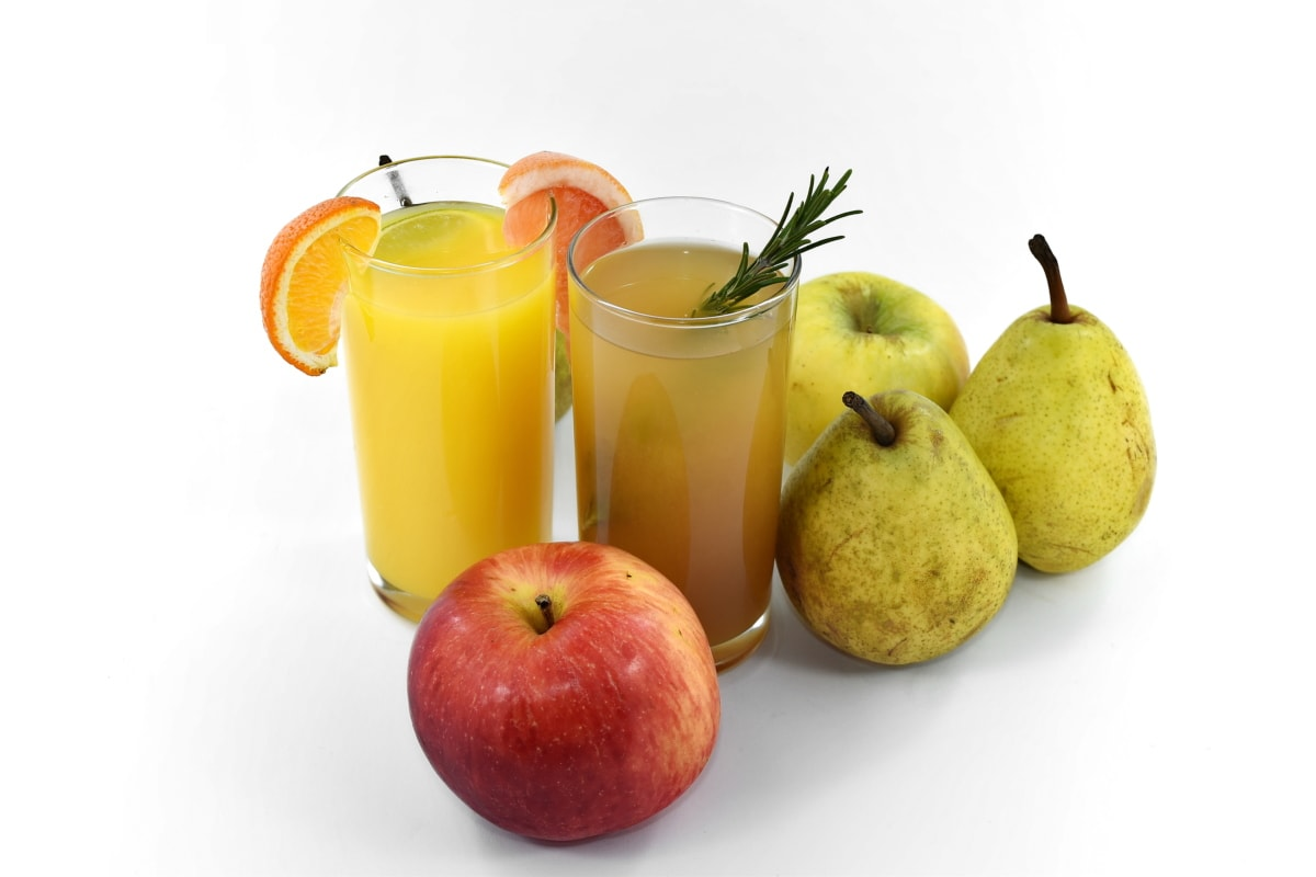 antioxidant, jablká, ovocné šťavy, organické, hrušky, zrelé plody, vegánska, vitamín C, vitamín, jablko