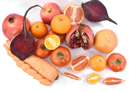 beetroot, carrot, food, fresh, fruit, grapefruit, mandarin, organic, pomegranate, red