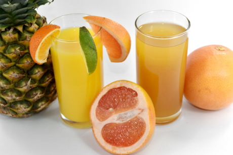 citrus, drink, exotic, fruit cocktail, grapefruit, lime, pineapple, ripe fruit, tropical, vitamin C