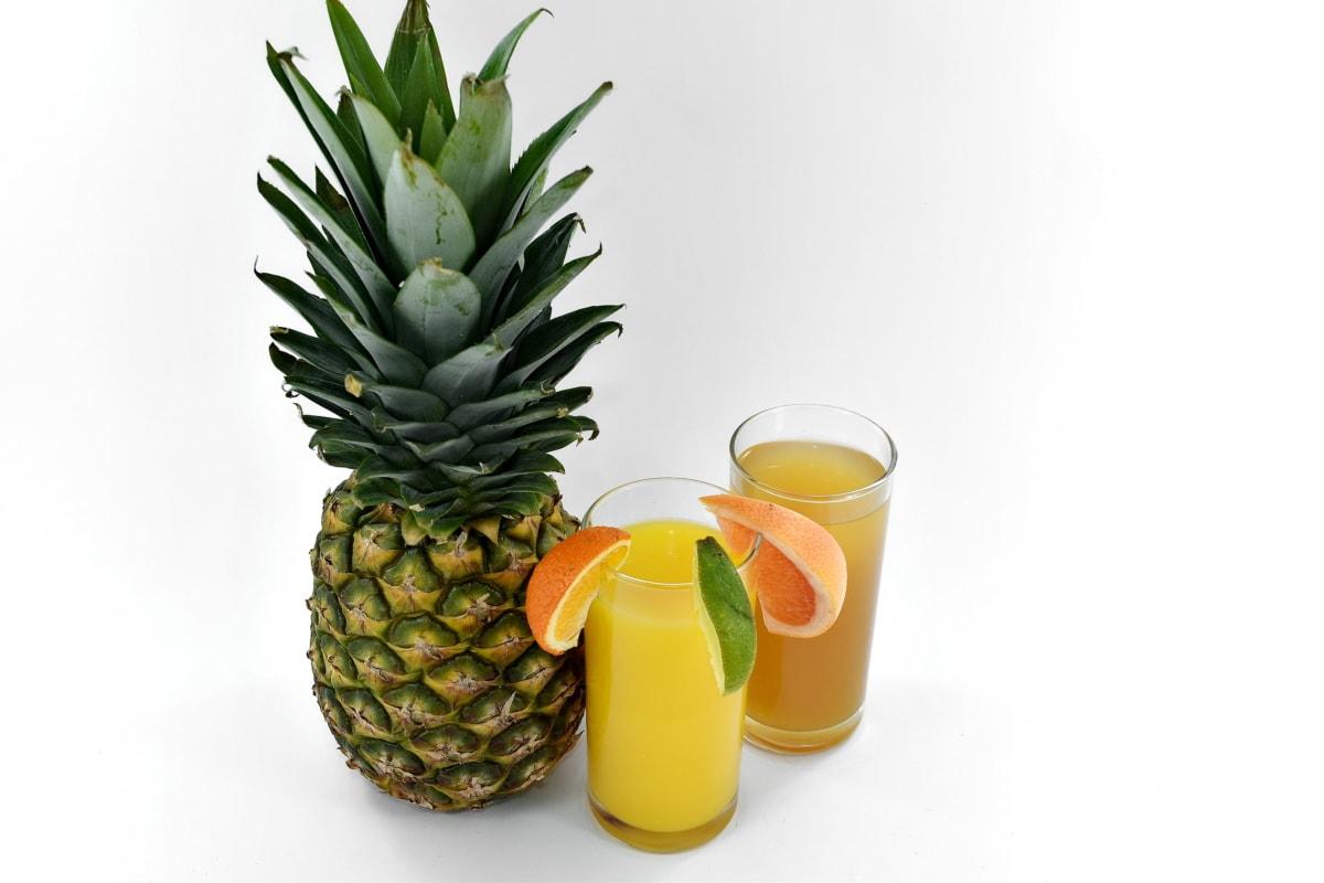 dryck, fruktjuice, lemonad, limefrukt, ananas, mogen frukt, sirap, mat, tropisk, frukt