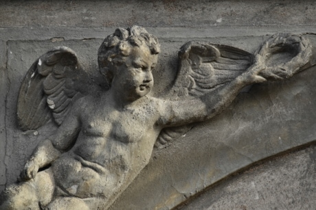angel, artwork, black, gargoyle, sculpture, wings, statue, art, architecture, ancient