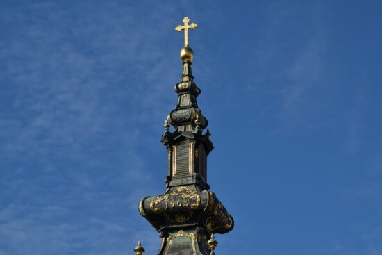 artwork, baroque, christianity, church tower, cross, gold, handmade, architecture, religion, old