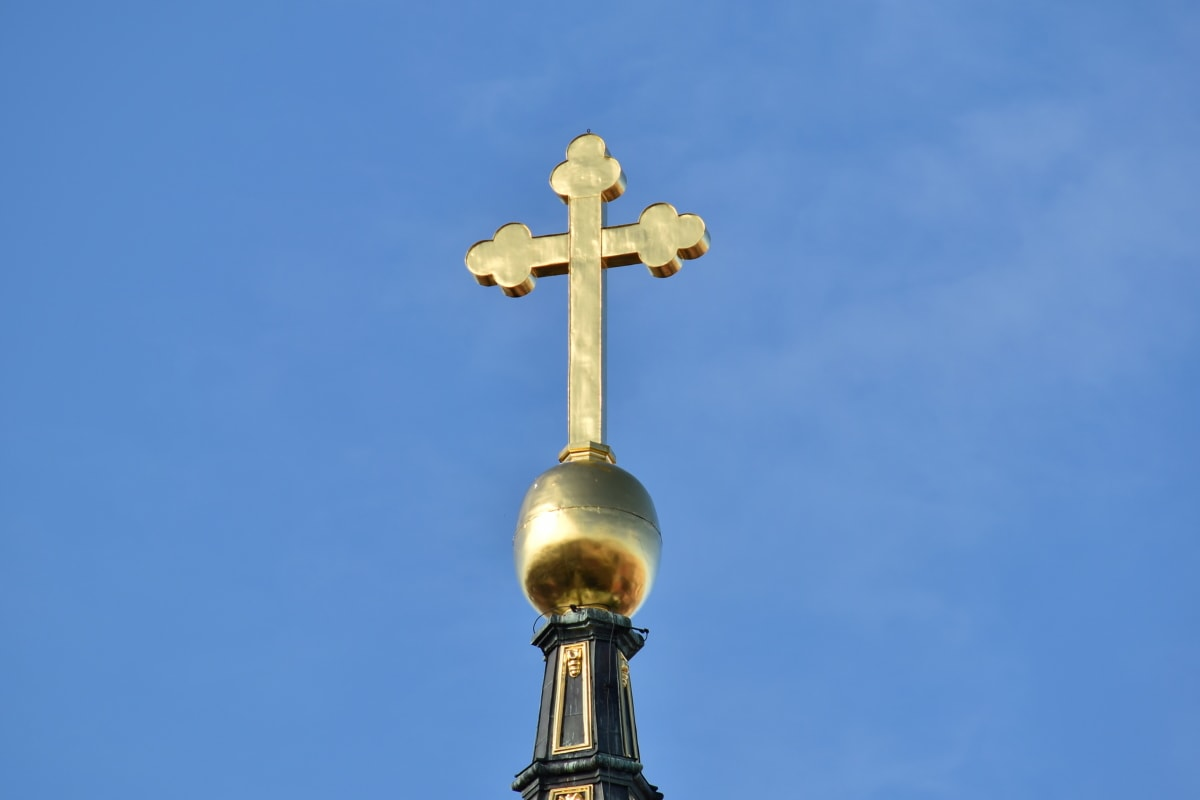 christianity, cross, gold, heritage, orthodox, building, architecture, religion, outdoors, church