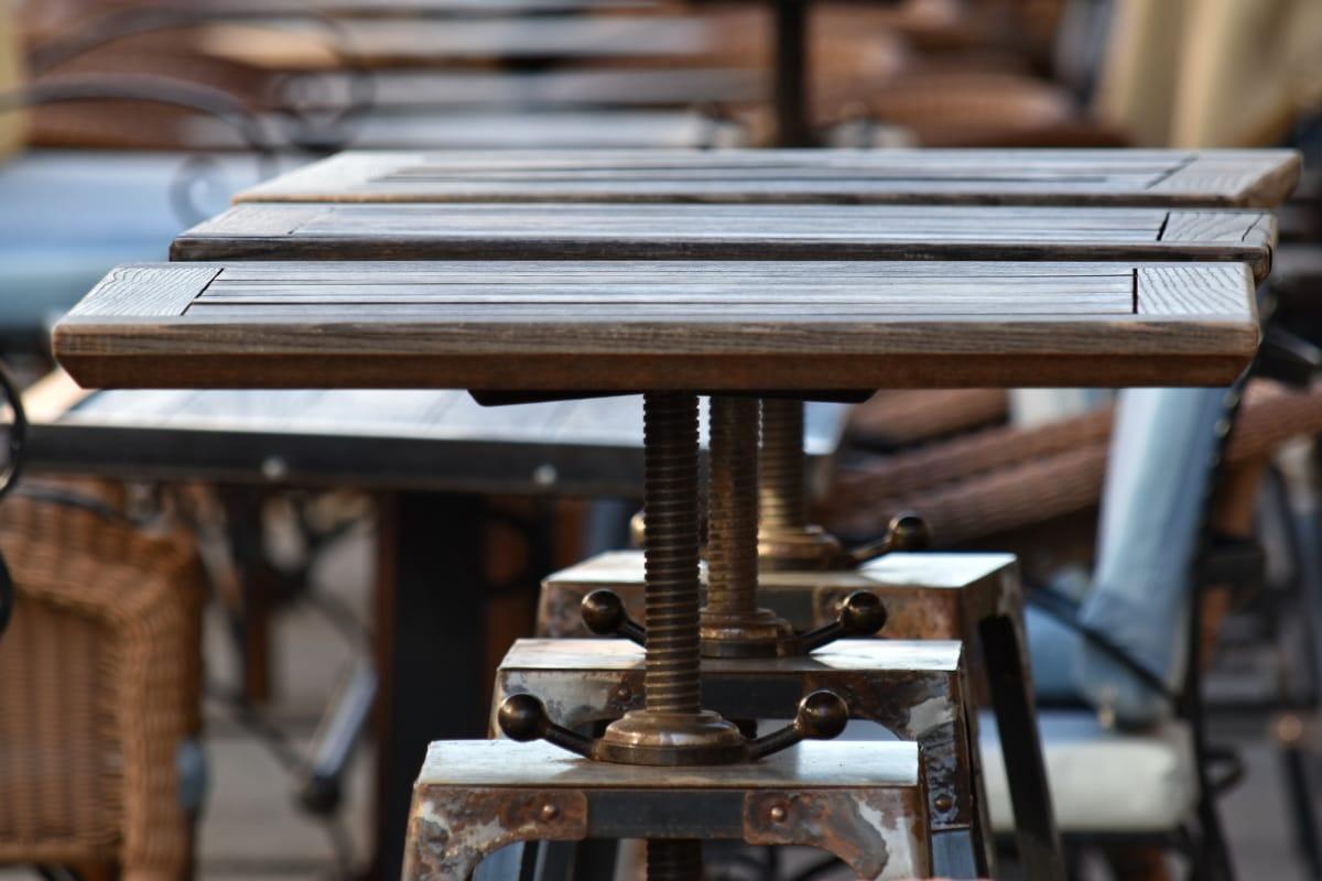 lijevano željezo, dnevno, namještaj, ručni rad, stari stil, jedinstveno, drvo, staro, sjedište, čelik
