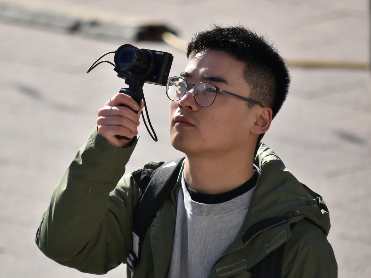 businessman, camera, China, face, photographer, portrait, tourist, tourist attraction, man, people
