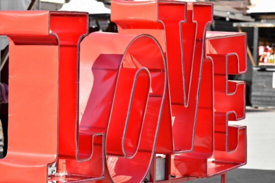 love, message, romantic, sculpture, text, Valentine's day, device, plastic, outdoors, steel