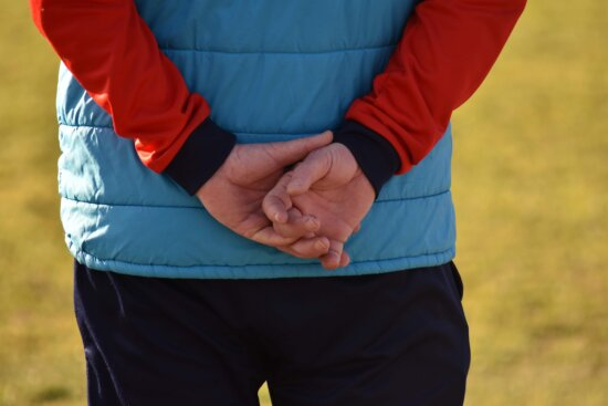 cloth, hands, man, outfit, outdoors, grass, relaxation, park, leisure, pants