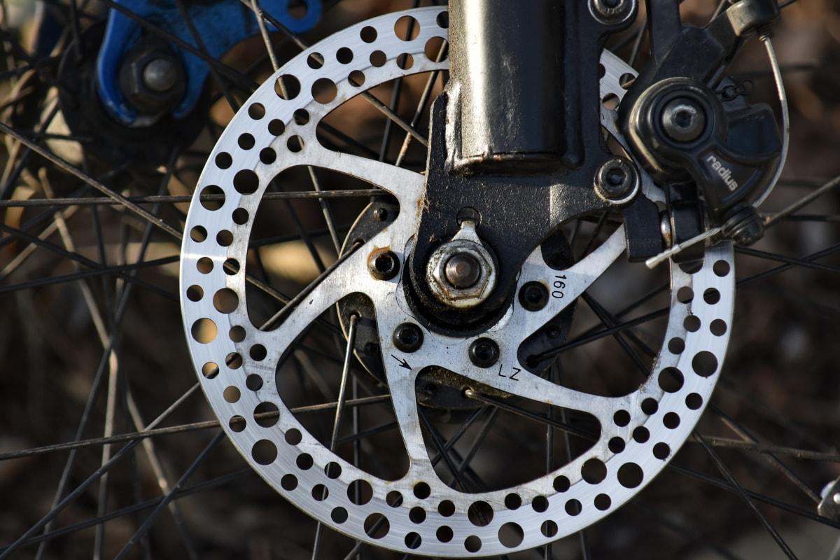φρένο, χρώμιο, γρανάζι, τροχός, χάλυβα, Μηχανήματα, ποδήλατο, Σίδερο, παλιά, μηχανή