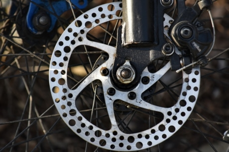 brake, chrome, gear, wheel, steel, machinery, bike, iron, old, engine