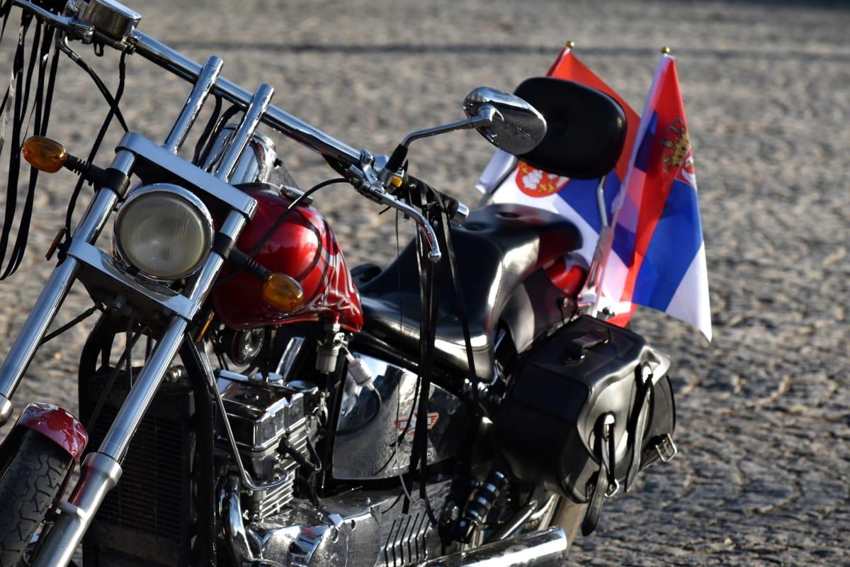 engine, mechanic, mechanization, motorcycle, old style, steering wheel, tire, vehicle, motorbike, street