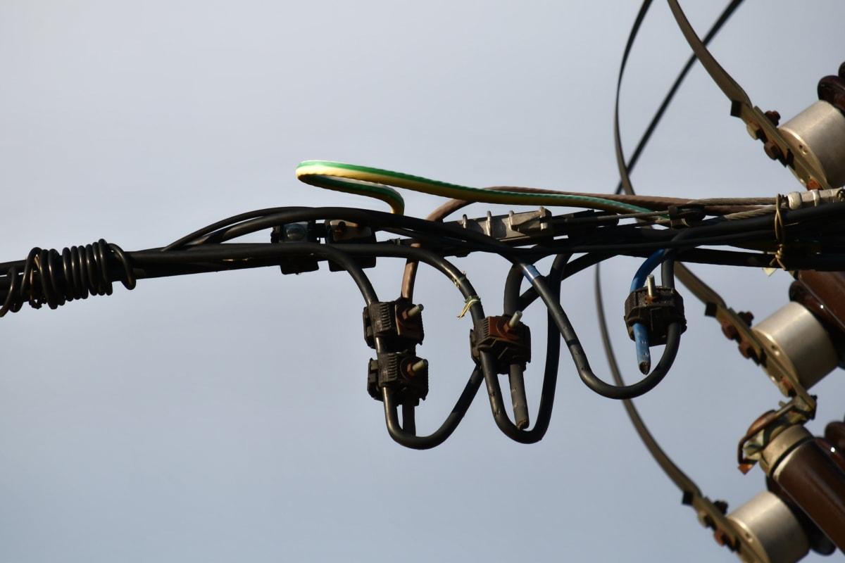 Verteilung, Strom, Spannung, Gerät, Draht, Technologie, Branche, Verbindung, Stahl, Ausrüstung