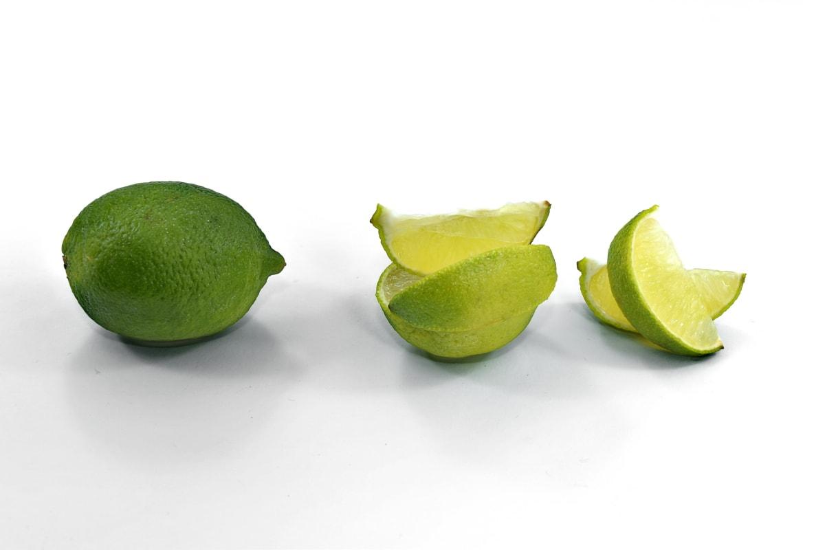ácido ascórbico, amarga, citrino, exóticas, lima, fruta madura, fatias, vitamina C, limão, frutas