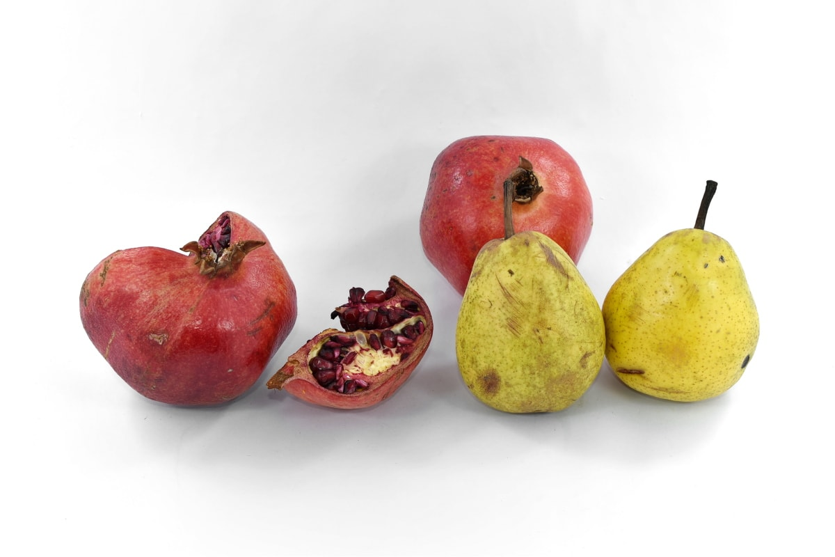 delicious, pears, pomegranate, seed, slices, vitamin C, sweet, diet, fruit, pear
