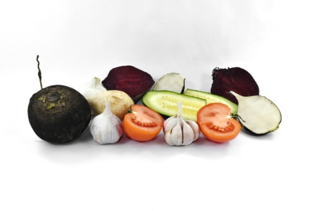 appetite, beetroot, cucumber, garlic, radish, tomato, vegetables, vegetarian, vitamin C, diet