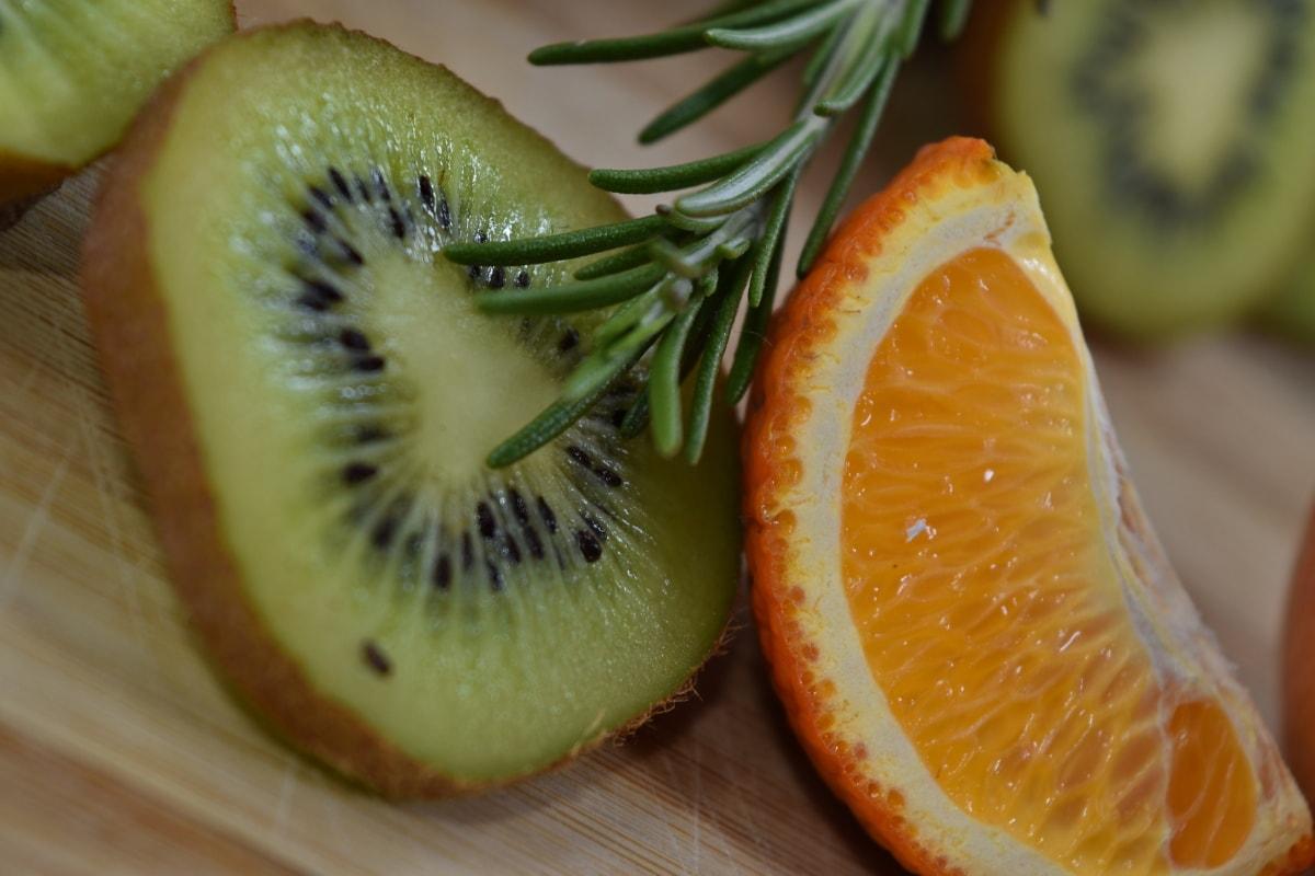 aromatični, grana, kivi, mandarina, narančina kora, začin, voće, vitamin, hrana, svježe