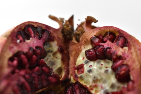 cross section, macro, seed, slice, vitamin C, produce, pomegranate, dessert, tropical, exotic