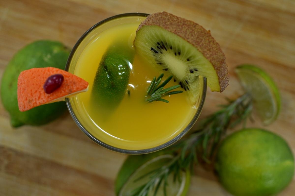 amer, eau douce, cocktail de fruits, complet, Kiwi, limonade, lime, Mandarin, fruits, alimentaire