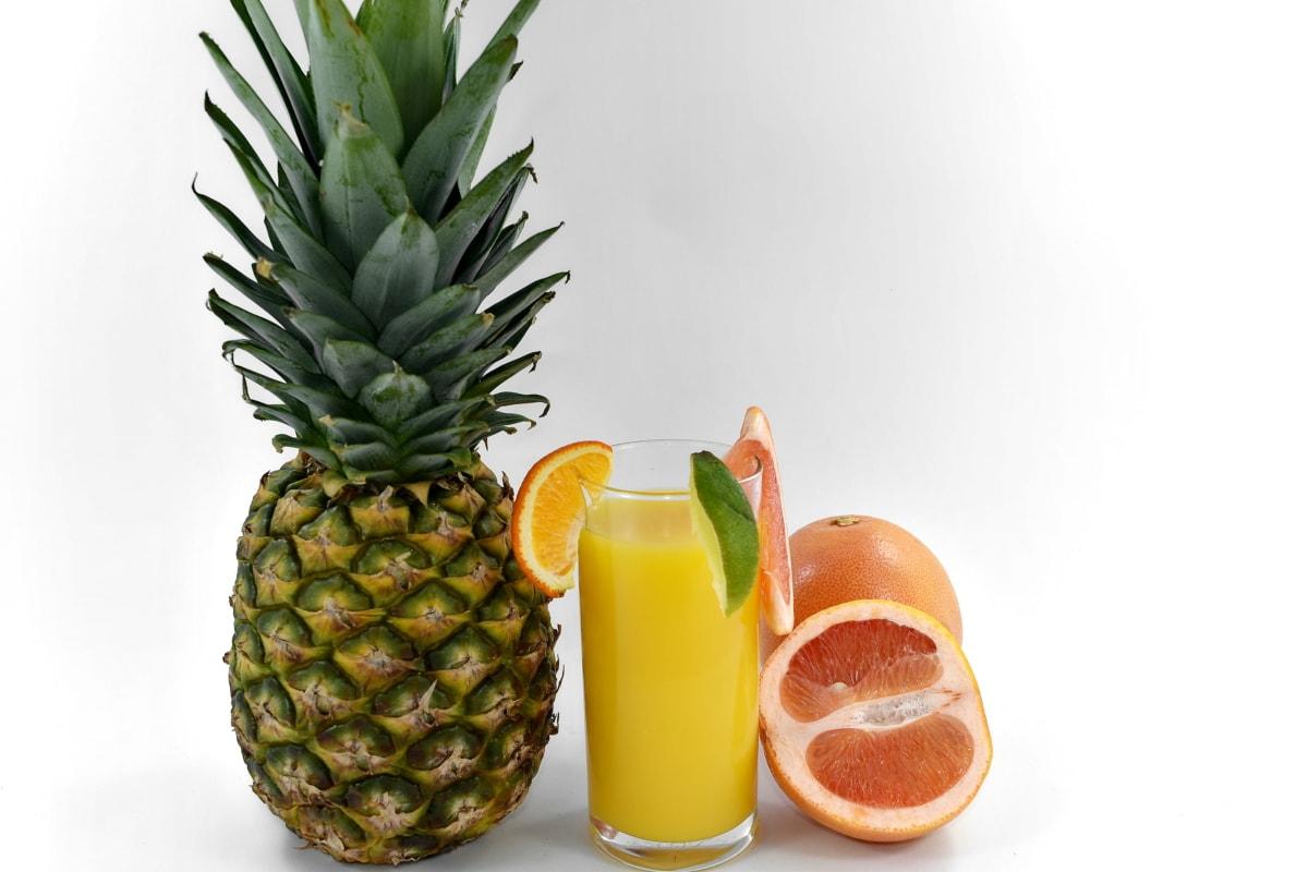 drankje, fruit cocktail, grapefruit, limonade, limoen, vitamine C, ananas, produceren, vrucht, voedsel