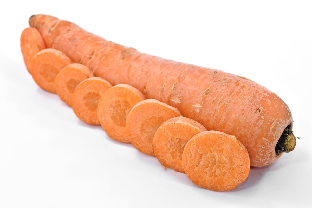 carrot, delicious, product, slices, vegetable, vitamin C, whole, root, snack, food