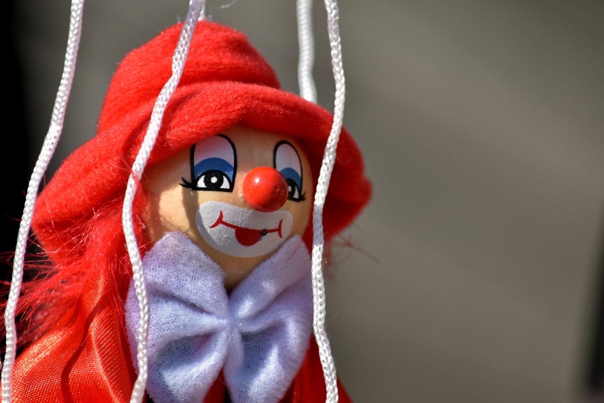 clown, docka, handgjorda, leksak, trä, mode, traditionella, rep, färg, ull