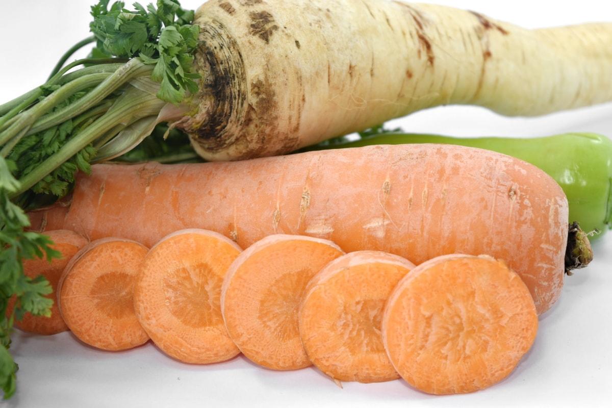 minerales, perejil, raíz, vitamina C, vitaminas, zanahoria, alimentos, vegetales, nutrición, ingredientes