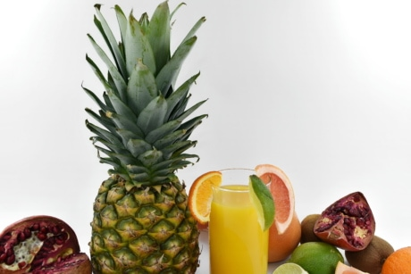 agrumes, pamplemousse, lime, ananas, Grenade, fruits mûrs, tropical, produire, alimentaire, fruits