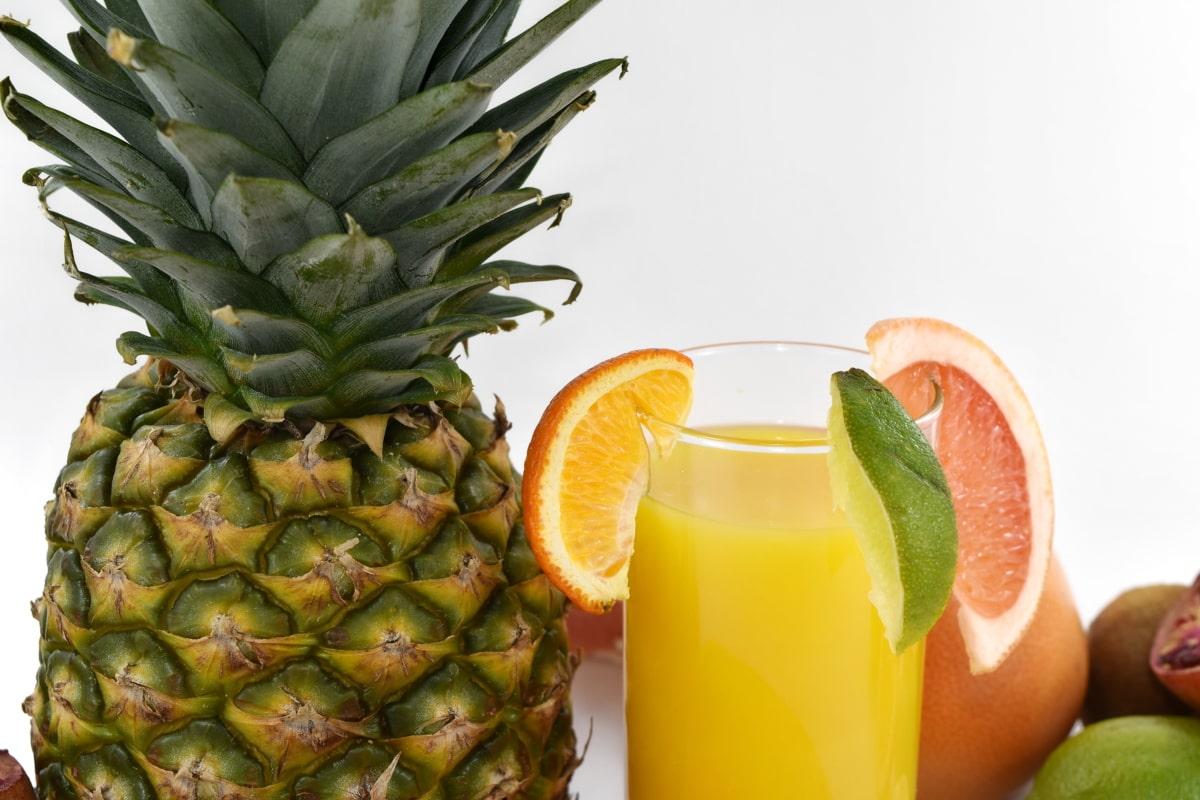 Getränke, frisch, Grapefruit, Limonade, Limette, Ananas, Essen, Produkte, Obst, tropische