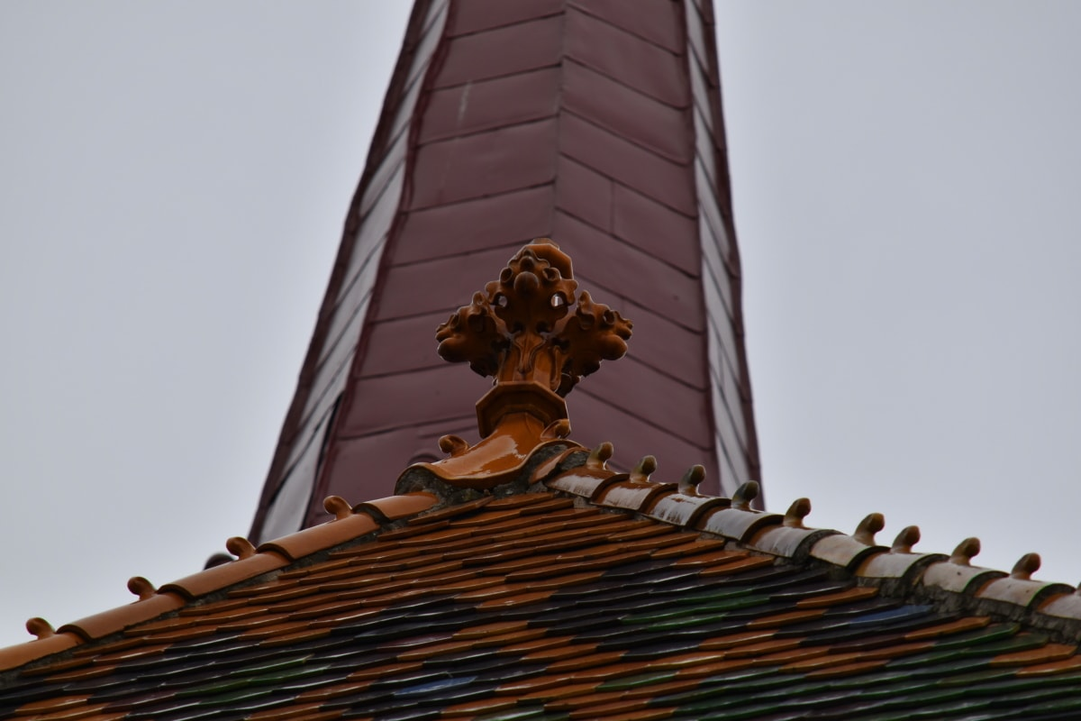 cerâmica, Igreja, Torre da igreja, decoração, telhado, telhado, telhas, edifício, telha, material