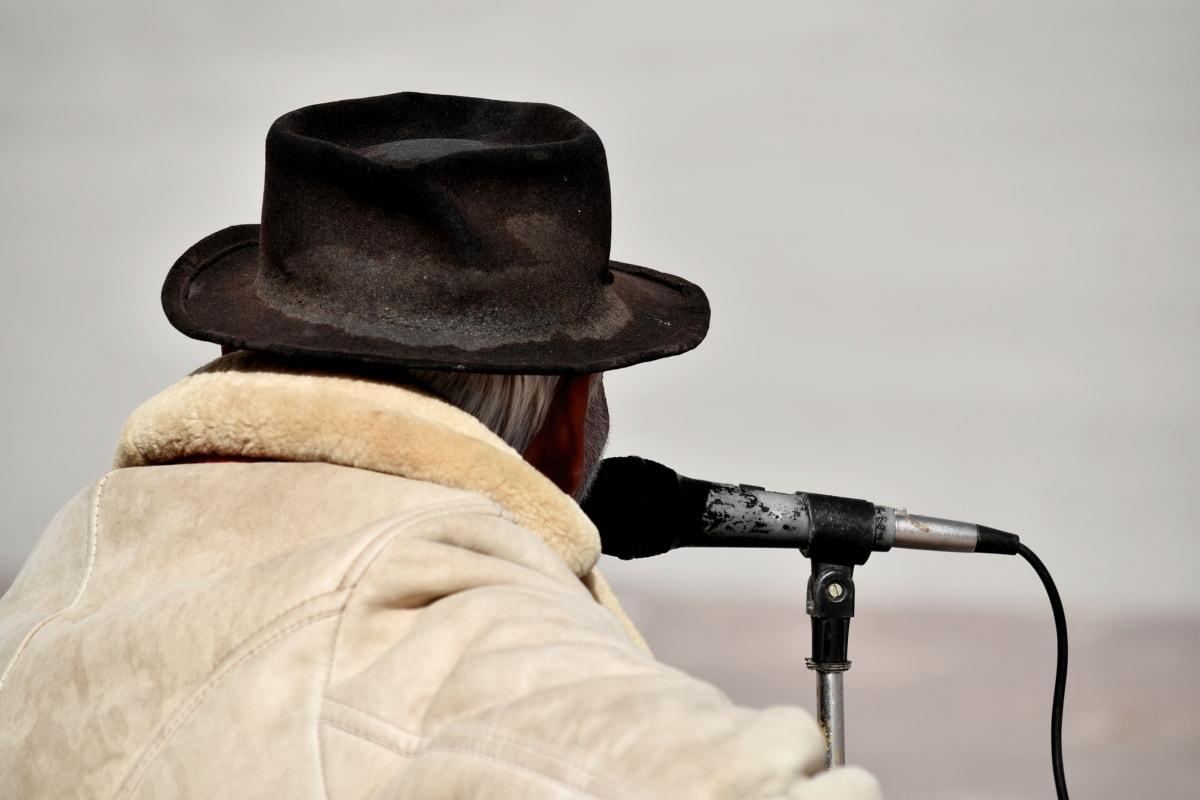 music, musician, singer, hat, man, people, cowboy, portrait, art, retro