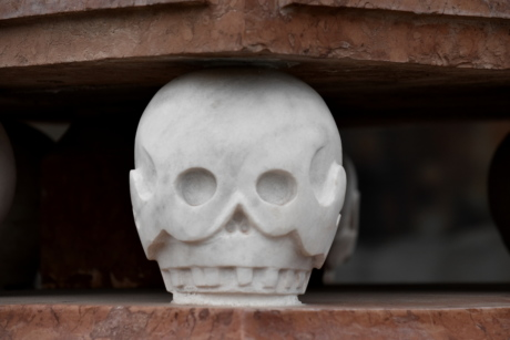 art, marble, monument, sculpture, skull, white, architecture, portrait, religion, old