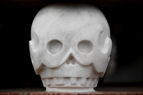 black and white, head, marble, scull, sculpture, skeleton, stone, face, art, skull
