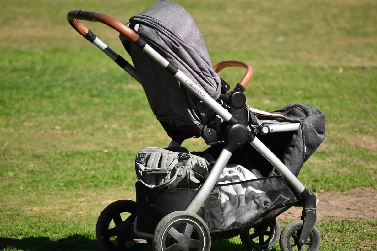 бебешка количка, хубаво време, трева, Оборудване, на открито, лято, парк, колело, поле, на открито