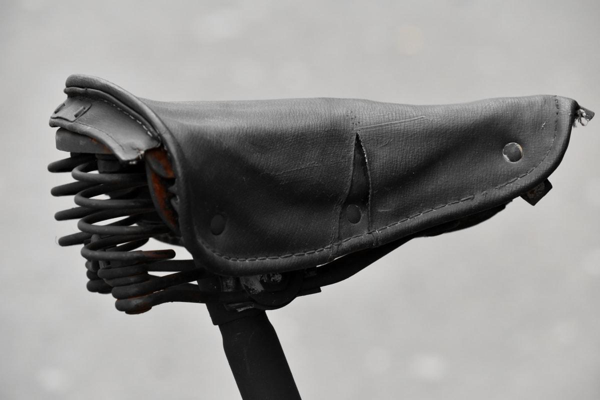 biciclette, vecchio, in pelle, sedile, dispositivo, moda, elegante, classico, in acciaio, retrò