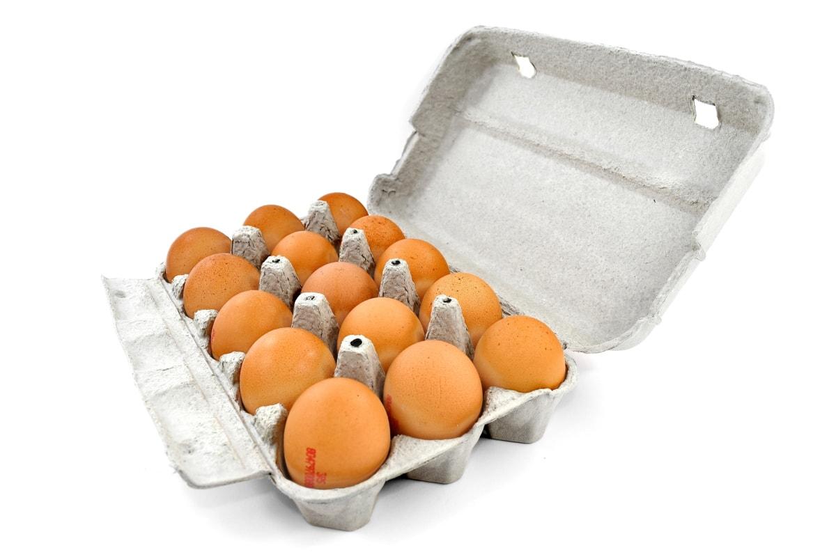 tojás, tojás dobozban, tojásfehérje, tojáshéj, élelmiszer, táplálkozás, egészségügyi, héj, egészséges, kosár