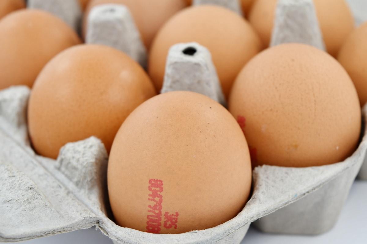 aus nächster Nähe, Ei, Eierkarton, Cholesterin, Ostern, Essen, Zutaten, Frühstück, Ware, Ernährung