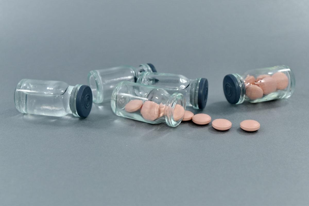 flaskor, bota, farmakologi, recept, medicin, piller, instrumentet, enhet, kikare, vetenskap