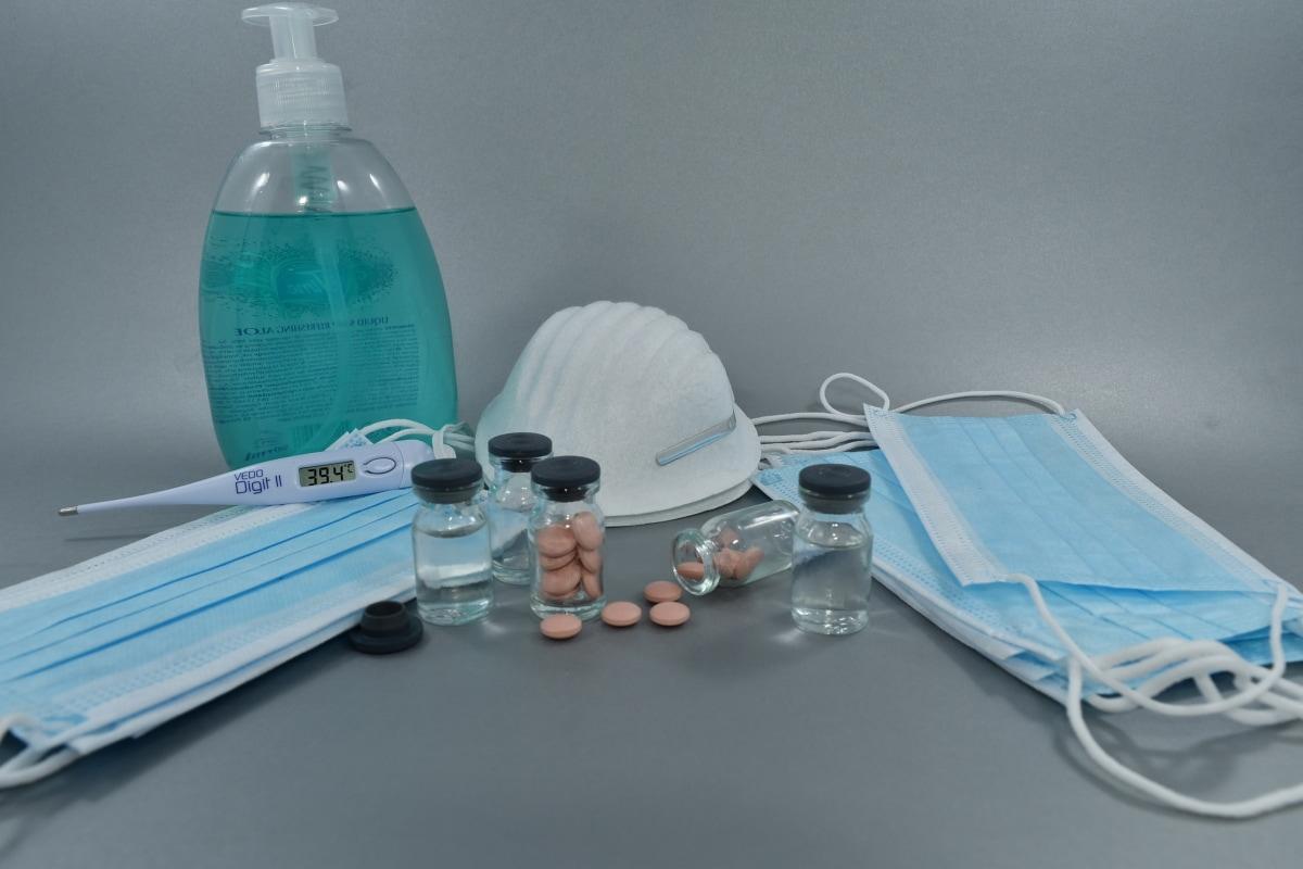 αντιβιοτικό, αντιπηκτικό, αντιορό, θεραπεία, μάσκα προσώπου, χάπια, σαπούνι, ο εμβολιασμός, μπουκάλι, θεραπεία