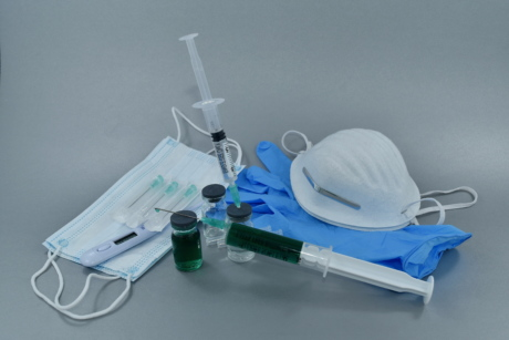 antibacterial, antibiotic, antibody, face mask, gloves, vaccination, vaccine, syringe, equipment, medicine