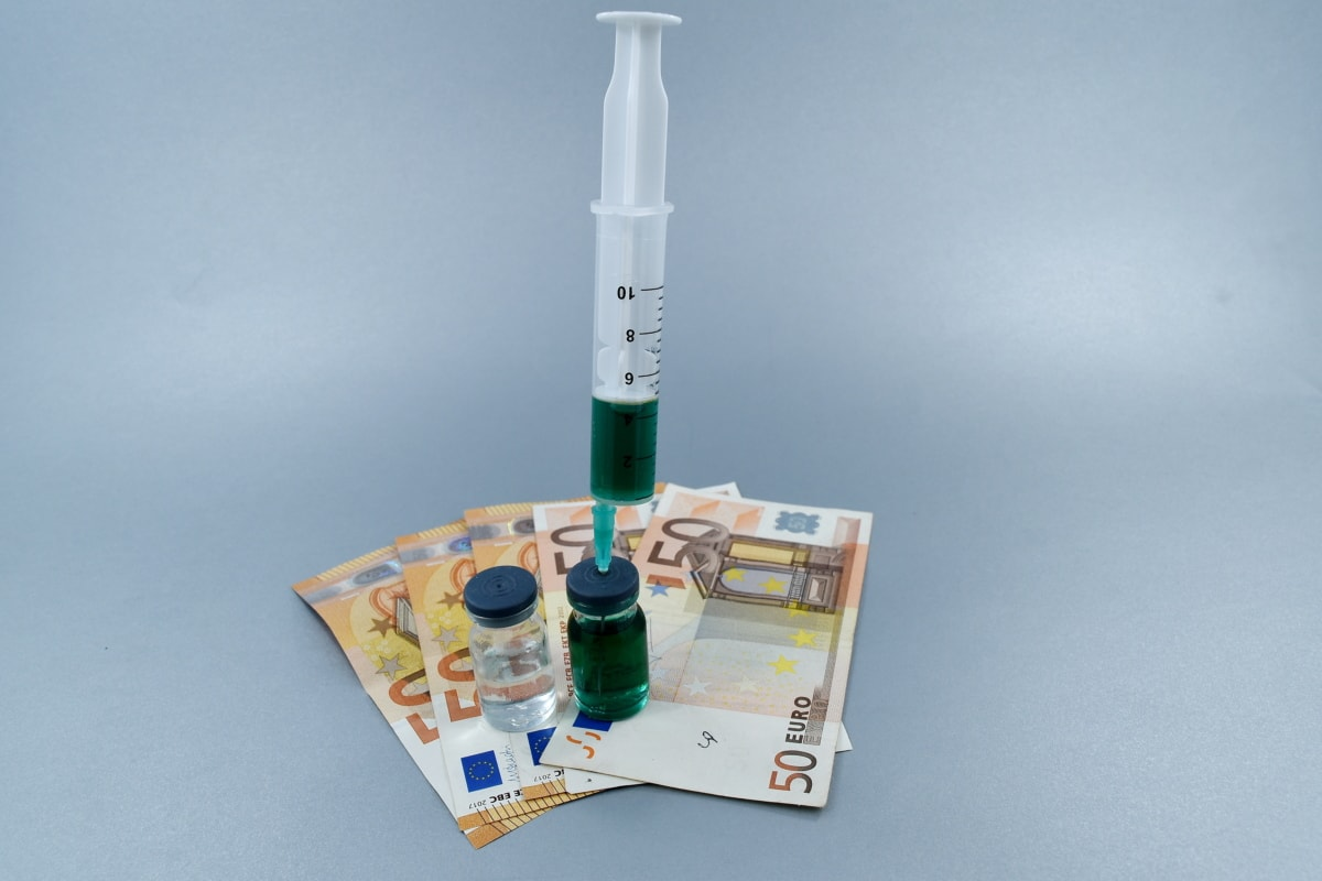 business, cash, cost, economy, Europe, finance, injection, medicine, science, still life