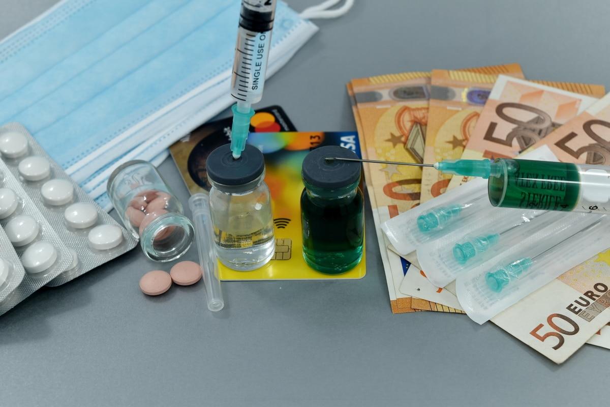 negocios, coronavirus, coste, COVID-19, cura, crecimiento económico, Farmacología, vacuna contra la, jeringa, medicina