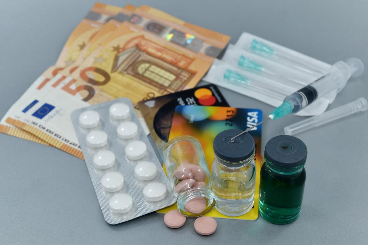 Geschäft, Coronavirus, COVID-19, Heilung, Markt, Marketing, Geld, Pharmakologie, Apotheke, Testen