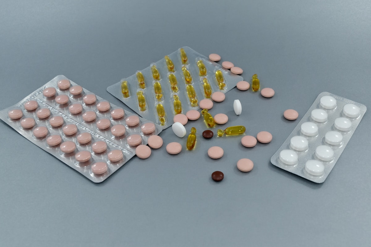gyógymód, gyógyszerek, fájdalomcsillapító, tabletták, beteg, betegség, tabletta, aszpirin, tabletta, kapszula
