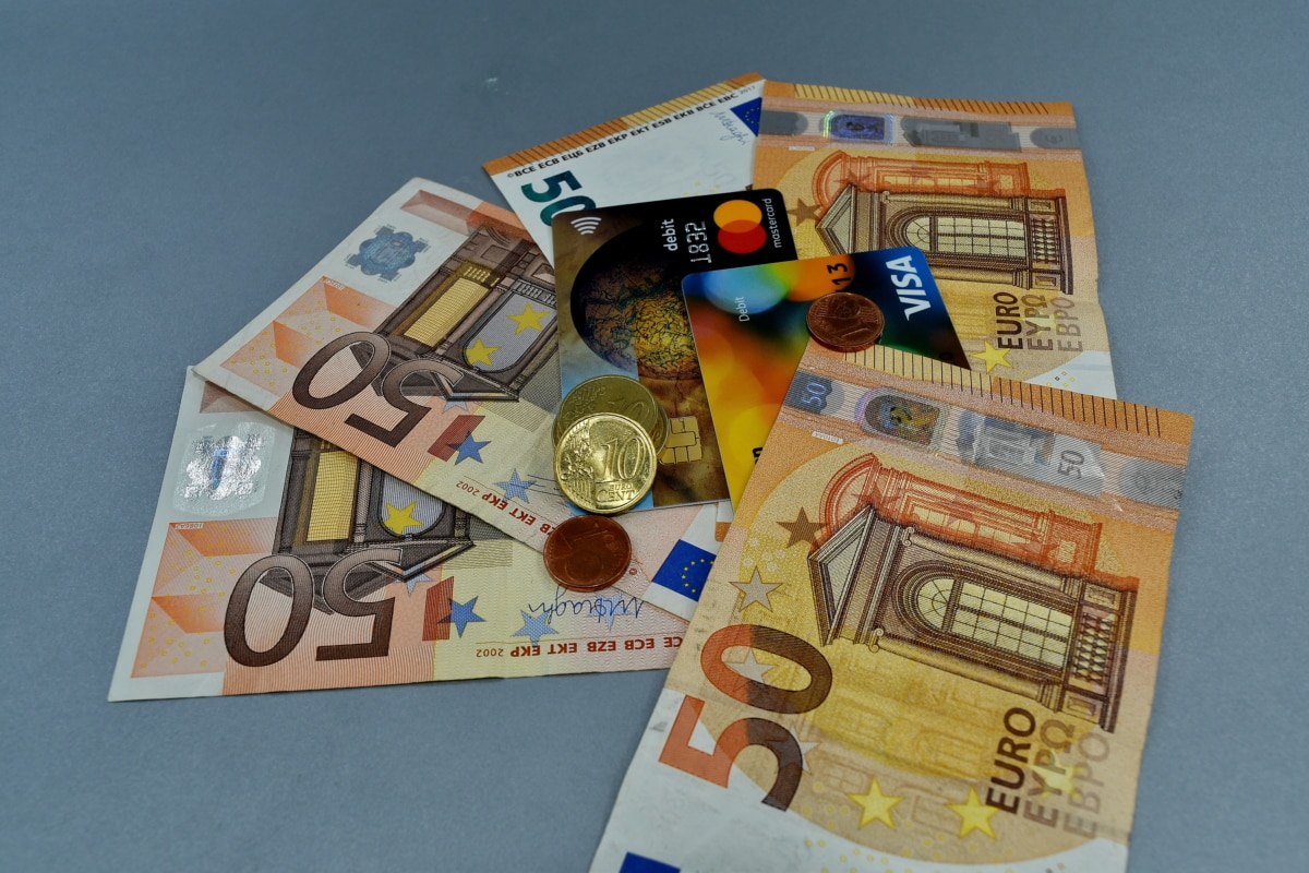 紙幣, カード, ユーロ, ヨーロッパ, 交換, プラスチック, 貯蓄, 銀行, お金, 銀行