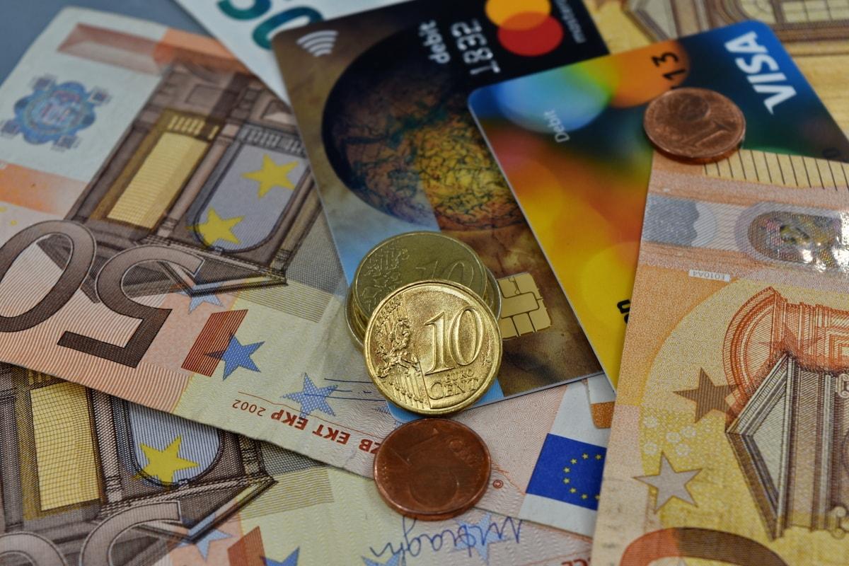 monety, handlu, Europejski, pożyczki, pieniądz papierowy, Unii, środków pieniężnych, oszczędności, waluty, Banknot