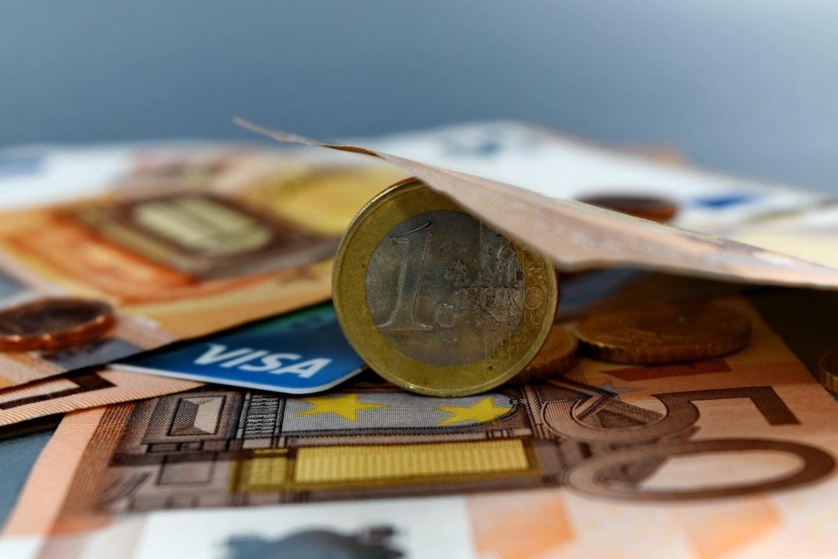 bankovnictví, bankovka, hotovost, hotovostního účtu, mince, eura, Evropa, Evropská, peníze, financování