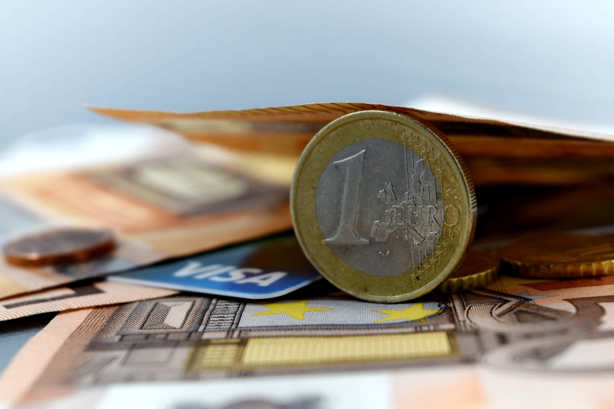 close-up, coin, economic growth, euro, Europe, European, income, paper money, savings, currency