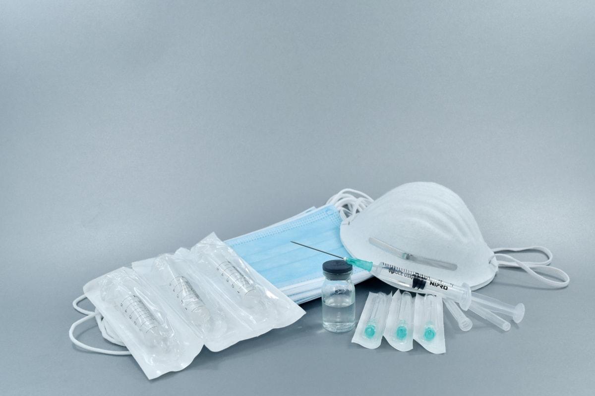 face mask, hygienic, injector, medical, supplies, syringe, medicine, still life, healthcare, health